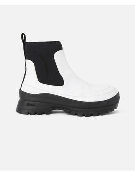White Utility Boots by Stella Mccartney