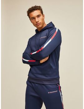 Wicking Logo Tape Hoodie by Tommy Hilfiger