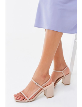 Open Toe Block Heels by Forever 21