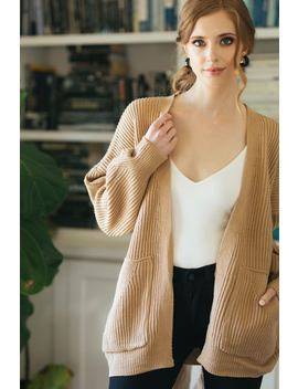 Tatum Knit Ribbed Tie Cardigan by Morning Lavender