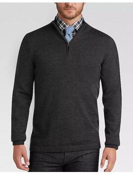 Joseph Abboud Charcoal Merino Wool Sweater by Joseph Abboud