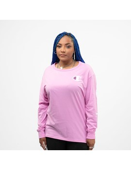 Womens Champion Long Sleeve Boyfriend Tee by Champion