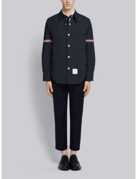 Solid Nylon Armband Shirt Jacket by Thom Browne
