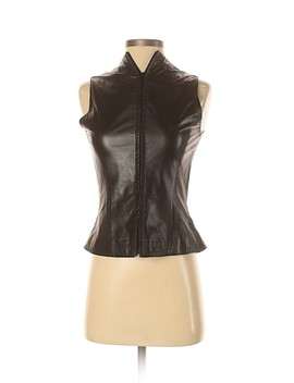 Leather Top by Elements By Vakko