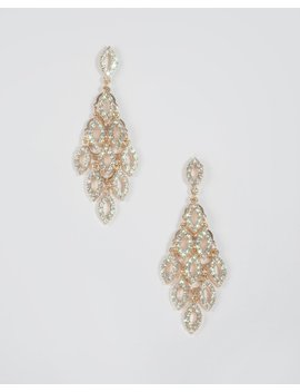 Gold Crystal Multi Pave Earrings by Colette Hayman