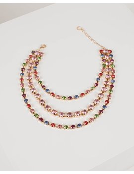 Multi Colour Three Layered Necklace by Colette Hayman