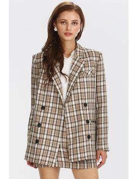 Maci Plaid Check Jacket by Storets