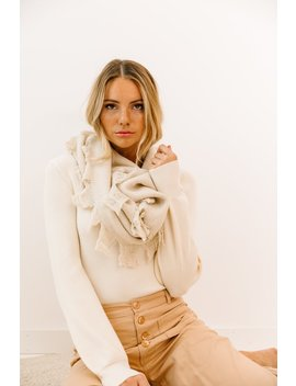 One I Want Ivory Scarf by Luca And Grae