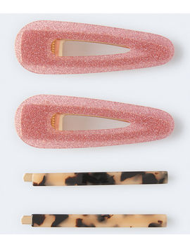 Mixed Slide Hair Clip 4 Pack by Aeropostale