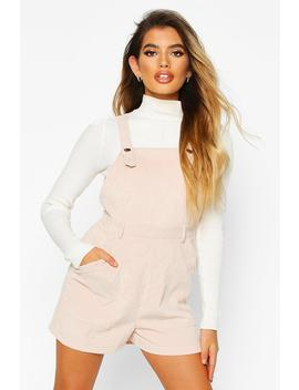 Cord Pinafore Playsuit by Boohoo