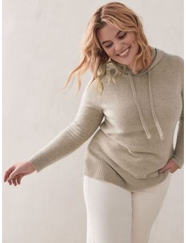 Hooded Cashmere Sweater   Addition Elle by Penningtons