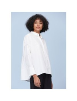 Side Slit Relaxed Silk Shirt by Lily Silk