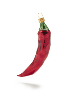 Red Chile Pepper Glass Ornament by Sur La Table