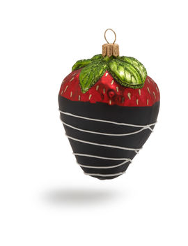 Chocolate Covered Strawberry Glass Ornament by Sur La Table