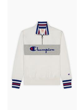 Half Zip Up Script Logo Reverse Weave Sweatshirt by Champion