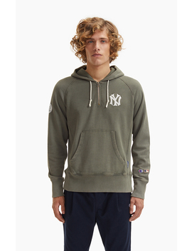 New York Mlb Cooperstown Collection Reverse Weave Hoodie by Champion