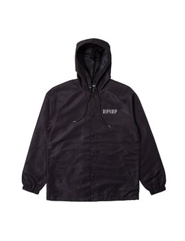 Lights Out Hooded Coaches Jacket (Black) by Ripndip