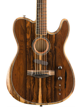 Acoustasonic Telecaster Exotic Wood Acoustic Electric Guitar by Fender