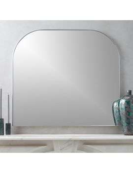 Infinity Silver Mantel Mirror by Crate&Barrel