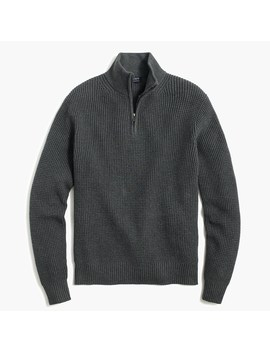 Waffle Knit Half Zip Pullover by J.Crew