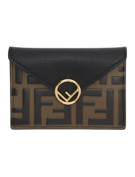 Black And Brown Forever Fendi Envelope Pouch by Fendi