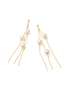 Molca Pearls Fringed Earrings   Pair by Jessica Buurman