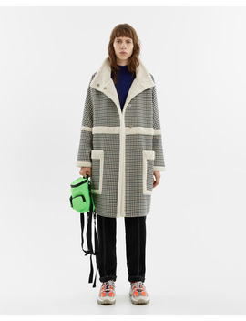 Straight Chequered Coat by Bimba Y Lola