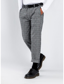 Kato Check Pants In Black by Glue Store