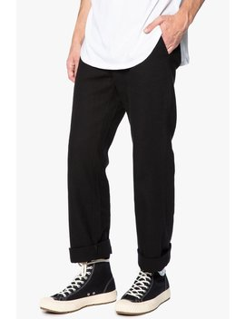 Black Straight Leg Workwear Pant by Elwood Clothing
