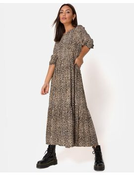 Ellery Dress In Rar Leopard Brown By Motel by Motel
