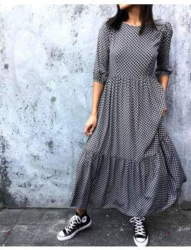 Ellery Maxi Dress In Check It Out Black By Motel by Motel