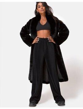 Obeli Trouser In Rib Black By Motel by Motel