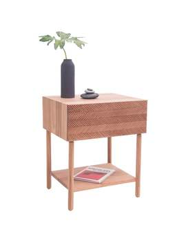 """""""Balance"""" Sidebed Table In Cedar Wood, Mexican Contemporary Design by 1 Stdibs"""