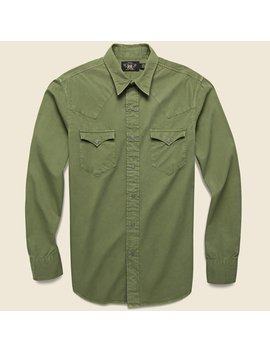 Heritage Western Shirt   Olive by Rrl