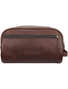 Leather Washbag by Barbour