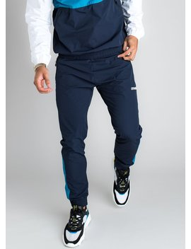 Gk Shore Tracksuit Bottoms   Navy Nights/Aqua by The Gym King