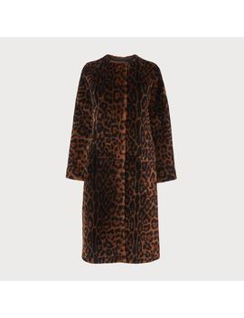 Sable Leopard Print Shearling Coat by L.K.Bennett