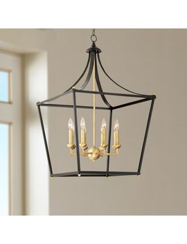"Sumpter 22"" Wide Bronze And Brass 8 Light Chandelier by Lamps Plus"