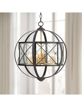 "Remy 20"" Wide Bronze And Brass Orb 6 Light Pendant Light by Lamps Plus"