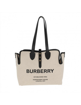 Soft Belt Tote Black by Burberry