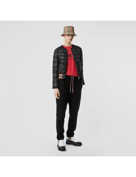 Icon Stripe Detail Down Filled Puffer Jacket by Burberry