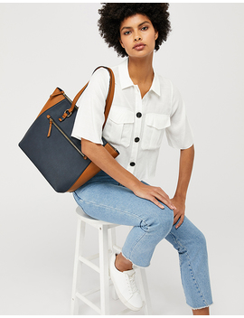 Dolly Colour Block Tote Bag by Accessorize