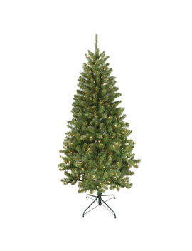 C5 6' Pre Lit Windsor Fir Tree With 300 Clear Lights C5 6' Pre Lit Windsor Fir Tree With 300 Clear Lights by At Home
