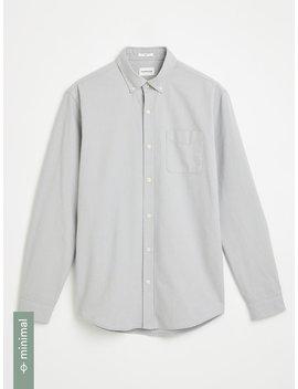 The Jasper Good Cotton Oxford Shirt In Grey by Frank & Oak