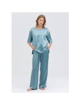 22 Momme Round Neck Silk Pyjamas Set by Lily Silk