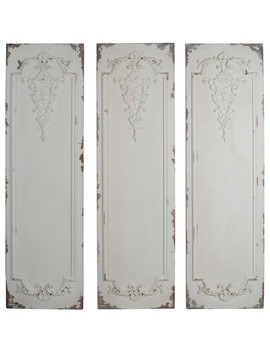 "Alcott Wall Panels Plaques, 3 Piece Set, 21x2.5x71"" by A&B Home"