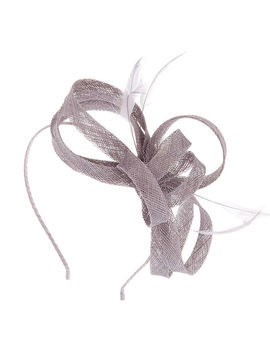 Feather Bow Headband   Grey by Claire's