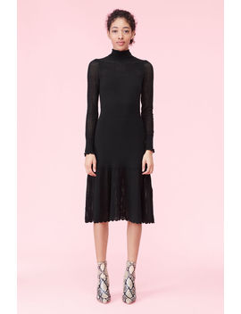 La Vie Pointelle Turtleneck Dress by Rebecca Taylor