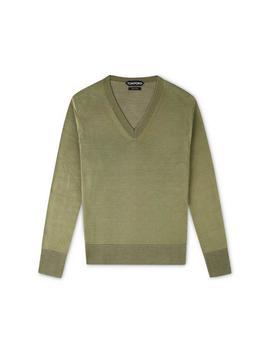 Vanise Silk Jersey V Neck by Tom Ford