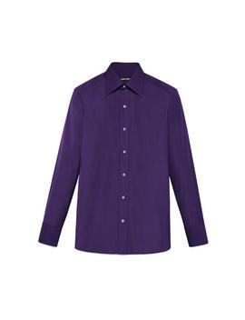 Tonal Violet Slim Fit Shirt by Tom Ford
